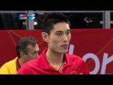 Table Tennis - CHN vs ESP - Men's Singles - Class 3 Quarterfinal 1, London 2012 Paralympic Games
