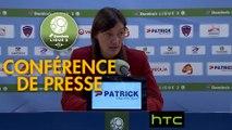 Conférence de presse Clermont Foot - ESTAC Troyes (1-1) : Corinne DIACRE (CF63) - Jean-Louis GARCIA (ESTAC) - 2016/2017