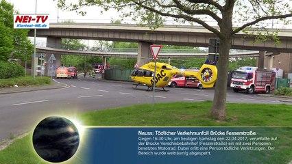 2017-04-22 Neuss: Schwerer Verkehrsunfall Brücke Verschiebebahnhof – Motorradfahrer