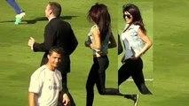 Priyanka Chopra + Cristiano Ronaldo at Dodger Stadium Los Angeles - Real Madrid vs Everton