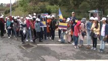 Barış İçin Direnen Çocuklar 15 Temmuz Şehitler Köprüsü'nde 'Barış Bildirisi' Okudu