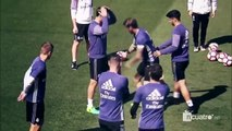 Real Madrid Players Funny Jokes on Training before El Classico 22-04-2017