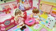 メルちゃん ネネちゃん いっしょにベビーカーで遊んだよ お出かけ前にちゃんと歯磨き 服選び出来たよ お家ごっこ Baby Doll Mell chan Baby Stroller & Tent Hou