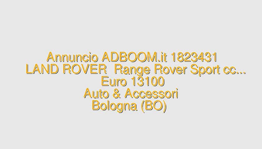 LAND ROVER  Range Rover Sport cc…