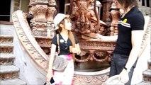 タイの可愛い女の子と寺院,The Sanctuary of Truthへ,タイ,パタヤ,旅行,พัทยา,Pattaya,girl,Thai,host,japan,サンクチュアリー