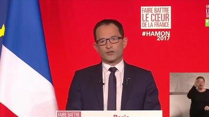Déclaration de Benoît Hamon à l'issue du 1er tour de l'élection présidentielle