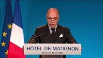 Le Premier ministre Bernard Cazeneuve appelle à voter Macron