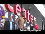Abner Mares vs Anselmo Moreno Full Weigh In and Faceoff