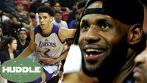 LeBron James Scouting Lonzo Ball in Vegas, Teammates in 2018? -The Huddle