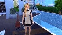 Et accouchement chute sinistre dans amour femme de ménage grossesse enceinte recueillir avec Sims 4 prt 1 elsa