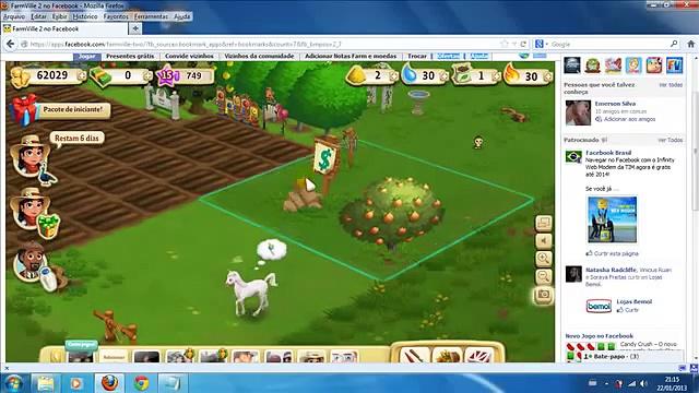 Notas verdes (Farms) e comprando terrenos no Farm Ville 2 (Portugues)