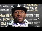 Floyd Mayweather Opens About Conor McGregor Comments EsNews Boxing