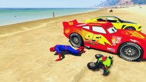 Motorsykkel Og Virkelige Biler Morsom Fest Og Tegneserie Spiderman Bredde Sanger For Barn