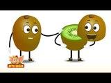 Kiwi Fruit Rhyme for Children, Kiwi Cartoon Fruits Song for Kids
