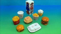 Complet content repas examen jouet vague Mcdonalds 1990 mcdino changeables 3 collection
