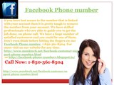 Why would it be a good idea for me to dial Facebook Phone Number? 1-850-361-8504