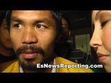 Manny Pacquiao Lands In Los Angeles BIG Scene At LAX