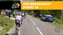 4 coureurs dans l'échapée / 4 riders in the breakaway - Étape 13 / Stage 13 - Tour de France 2017