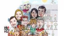 Caricaturas de grupo para presente e empresas