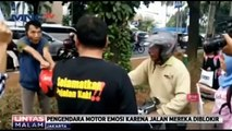 Tidak Terima Jalan Diblokir, Pemotor Ngamuk dengan Komunitas Pejalan Kaki
