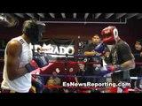 Alfonso Blanco Sparring At Robert Garcia Boxing Academy