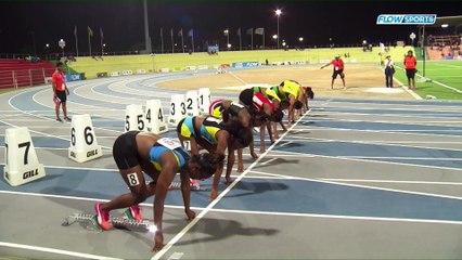 2017 CARIFTA GAMES - Girls Under-18 100m--Kevona Davis