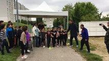Les enfants du quartier des Vernes de Givors participent à un cross