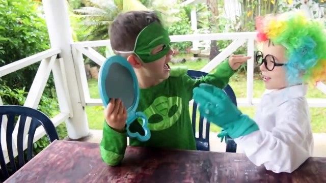PJ MASKS IRL ROMEO PRANK Clow Hair Funny SUPERHEROS In REAL LIFE Sick Catboy Gekko Doctor Check Up