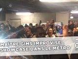 Maître Gims improvise un showcase dans le métro