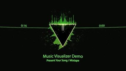 Music Visualizer Royalty Free - Geometry Style