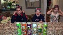 PRINGLES CHALLENGE! Guess POTATO CHIP Flavor . Food Tasting Contest-uvBD
