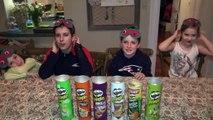 PRINGLES CHALLENGE! Guess POTATO CHIP Flavor . Food Tasting Contest-uvBDg5l0