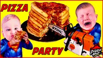 CHAINSAW PIZZA PARTY Crying Babies Superheroes 10 PIZZAS Can Superheroes Cook CRYING BABY Fun-1yLGZkzR