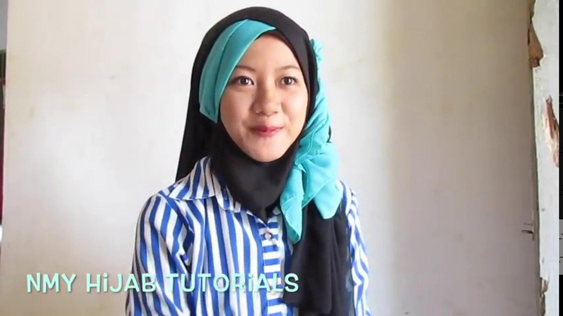 Tutorial Hijab Segi Empat Paris 2 Warna Untuk Pesta Kondangan Simple By Nmy Hijab Tutorials Video Dailymotion