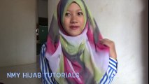 Tutorial Hijab Segi Empat Pelangi Praktis Dan Syantiik Daily Hijab #NMY Hijab Tutorials