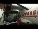 Air India plane crashed by Jet Airways bus at Kolkata airport