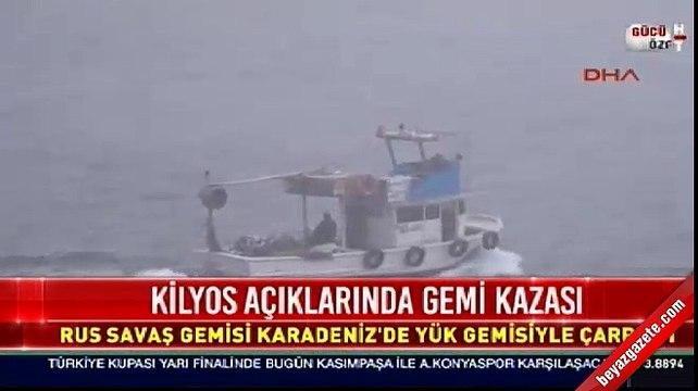 Kilyos açığında gemi kazası