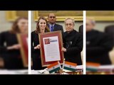 President Pranab Mukherjee receives Garwood Award for Open Innovation