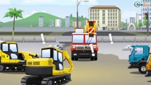 Kids Video and Tractor with Excavator, Bulldozer and Truck | Big Vehicles 2D Cars & Trucks Cartoons