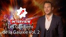 """Chris Pratt (Les Gardiens de la Galaxie 2 ): """"Je suis toujours un crétin et un abruti dans l'espace"""""""