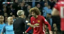 Manchester City 0-0 Manchester United Fellaini RED CARD 27-04-2017
