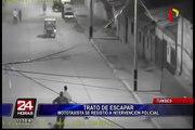 Mototaxista se resistió a intervención policial en Tumbes