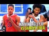 Marvin Bagley III vs Shareef O'Neal! Sierra Canyon vs Crossroads League Championship Highlights!!