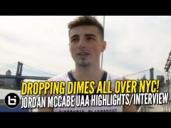 Jordan McCabe Dropping Dimes All Over NYC UAA Highlights Int