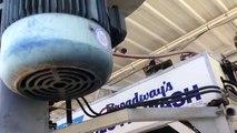 Heavily Damaged Broadway Cloth Rollover Car Wash