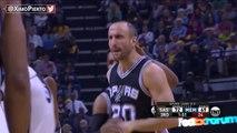 Manu Ginobili Four Point Play - Spurs vs Grizzlies - Game 6 - April 27, 2017 - 2017 NBA Playoffs
