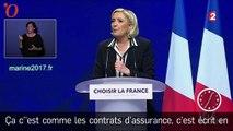 Pour Le Pen, le projet de Macron est «mondialiste, oligarchique et immigrationniste»
