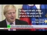'Mutton-headed mugwump'? Boris Johnson colorful words for Jeremy Corbyn