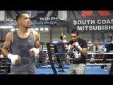 Alex Luna Josesito Lopez and Misael Rodriguez Shadow Boxing EsNews Boxing