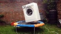 Machine à laver + briques + trampoline gros moment de délire OMG VIDEO